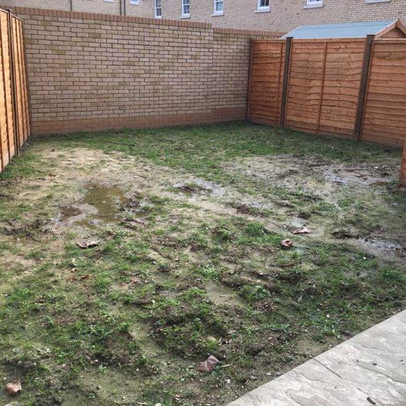 new build garden before landscaping