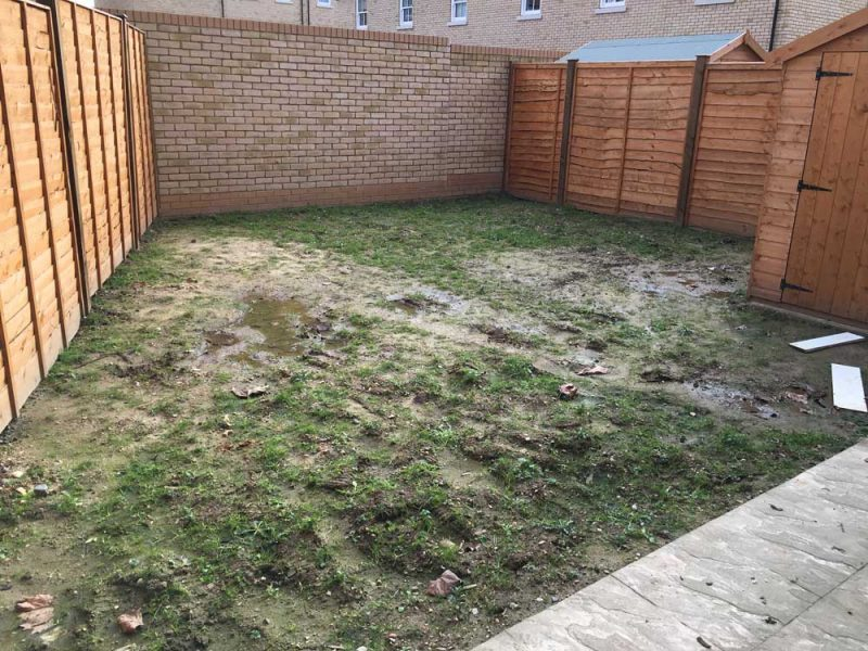 new build garden before landscaping