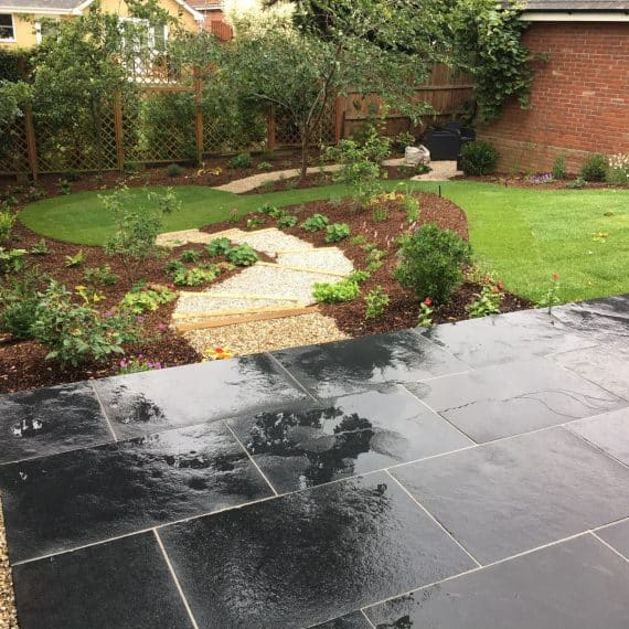 black basalt patio