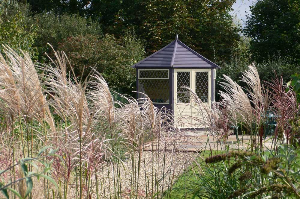 tall grass garden screen