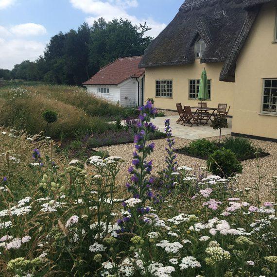 rural garden with big views
