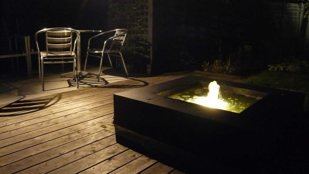 lighting for outdoor eating area