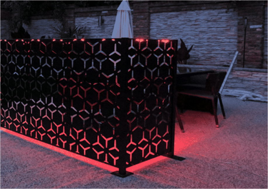 metal garden screen