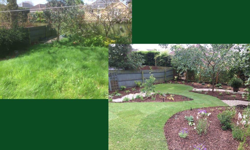 sloping back garden medium budget