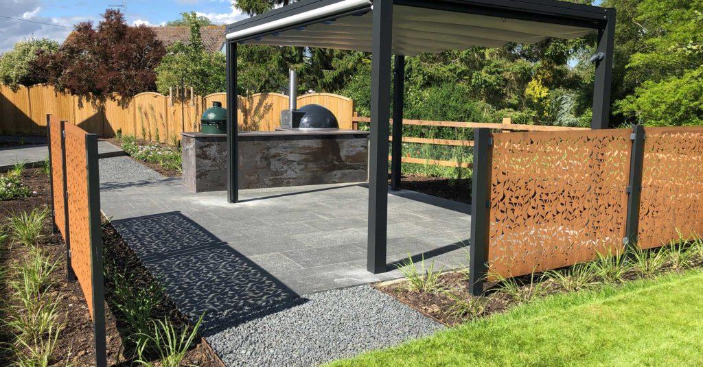 garden design for outdoor eating