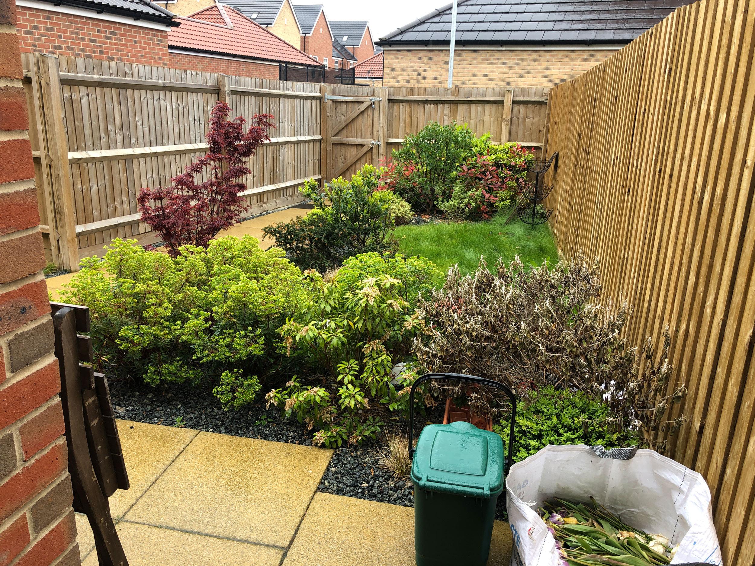 Small Urban Back Garden Awaiting Garden Design Tds