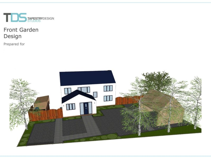 garden design for front garden and driveway
