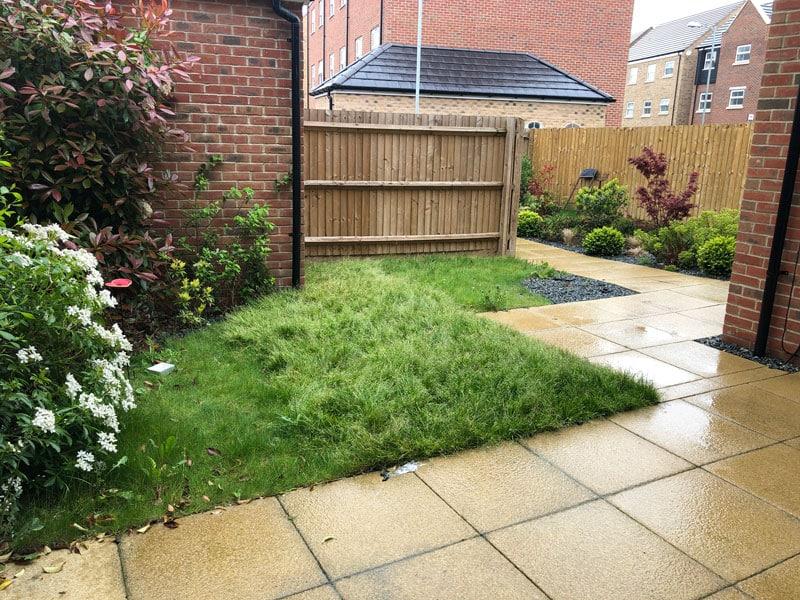 new build garden before makeover