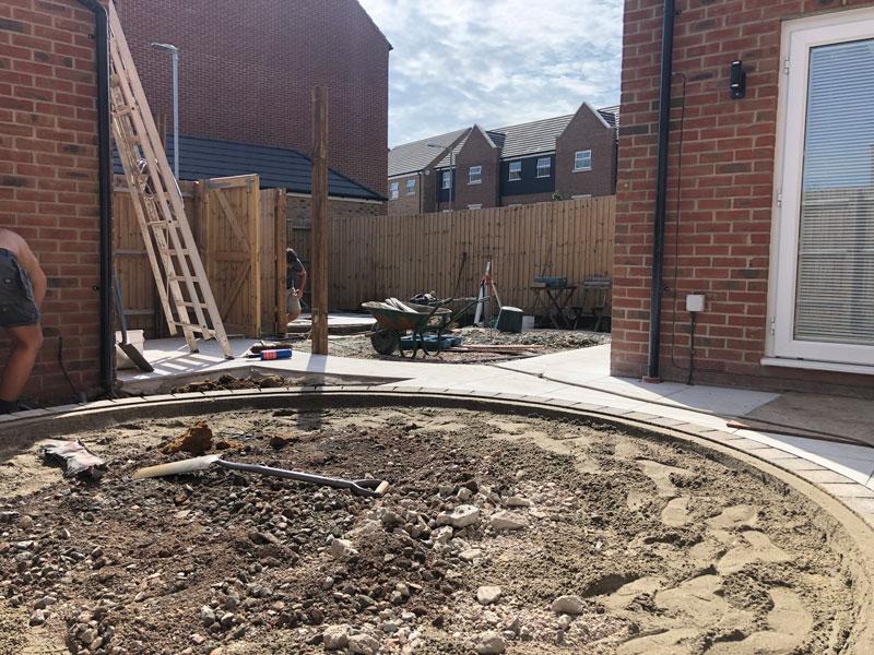 landscaping a modern back garden design