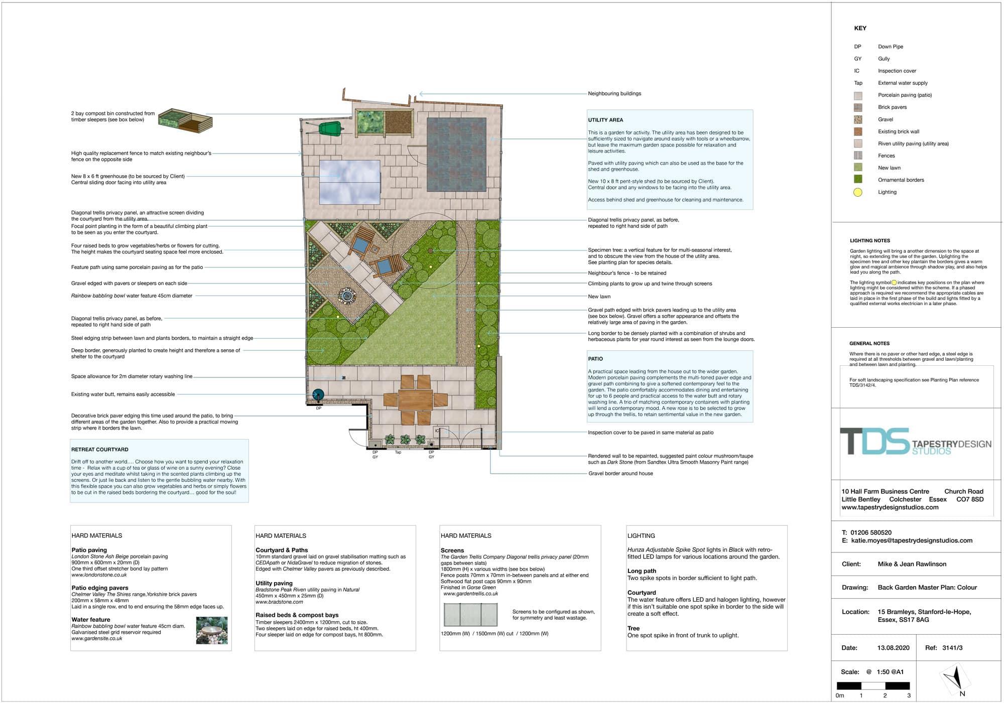 garden layout plan for rear garden design