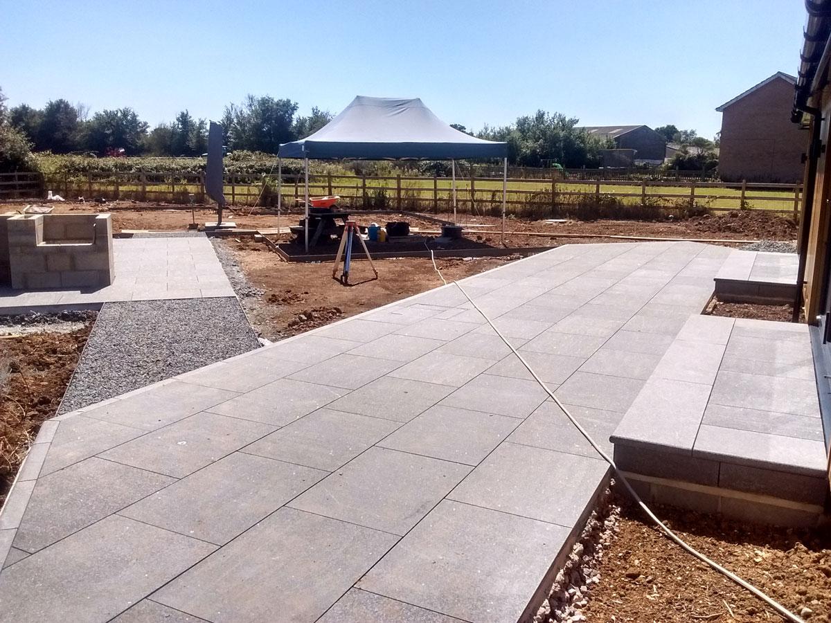 new patio under construction