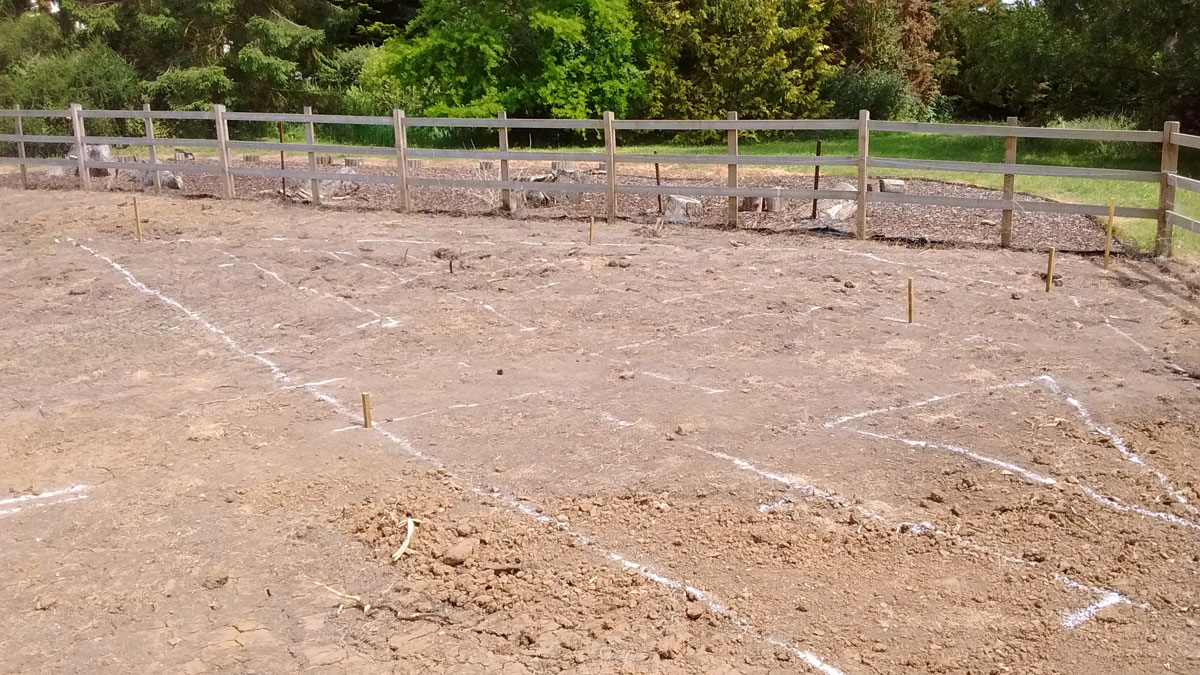 marking out landscaping plot